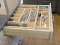 Tier Wood Cutlery Tray