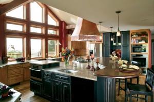 Waterbury-Knotty-Alder-Honey-Coffee-kitchen